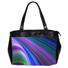 Background Abstract Curves Office Handbags (2 Sides)  by Celenk