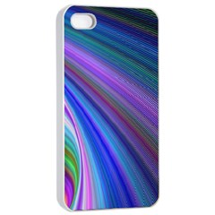 Background Abstract Curves Apple Iphone 4/4s Seamless Case (white) by Celenk