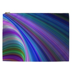 Background Abstract Curves Cosmetic Bag (xxl)  by Celenk