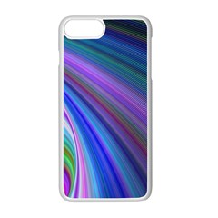 Background Abstract Curves Apple Iphone 7 Plus Seamless Case (white)