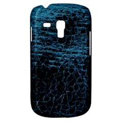 Blue Black Shiny Fabric Pattern Galaxy S3 Mini by Celenk