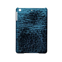 Blue Black Shiny Fabric Pattern Ipad Mini 2 Hardshell Cases by Celenk