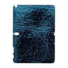 Blue Black Shiny Fabric Pattern Galaxy Note 1 by Celenk
