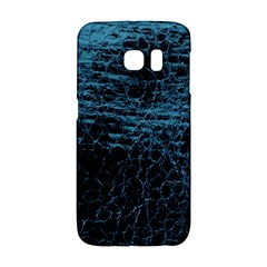 Blue Black Shiny Fabric Pattern Galaxy S6 Edge by Celenk