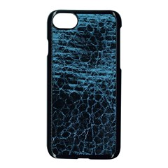 Blue Black Shiny Fabric Pattern Apple Iphone 8 Seamless Case (black) by Celenk