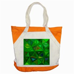 Green Triangle Background Polygon Accent Tote Bag by Celenk