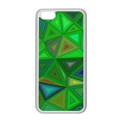 Green Triangle Background Polygon Apple Iphone 5c Seamless Case (white)