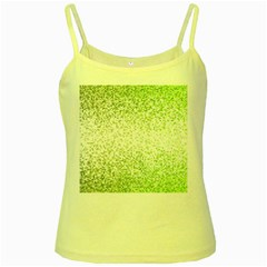 Green Square Background Color Mosaic Yellow Spaghetti Tank