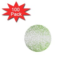 Green Square Background Color Mosaic 1  Mini Buttons (100 Pack)  by Celenk