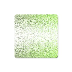 Green Square Background Color Mosaic Square Magnet