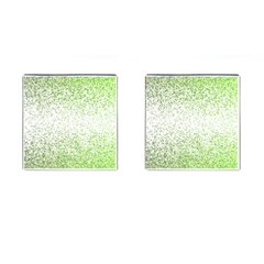 Green Square Background Color Mosaic Cufflinks (square) by Celenk