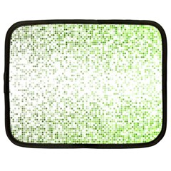 Green Square Background Color Mosaic Netbook Case (large) by Celenk