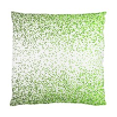 Green Square Background Color Mosaic Standard Cushion Case (one Side) by Celenk