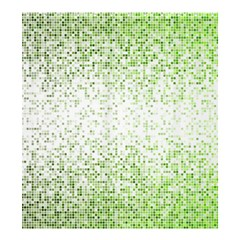 Green Square Background Color Mosaic Shower Curtain 66  X 72  (large)