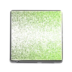 Green Square Background Color Mosaic Memory Card Reader (square) by Celenk