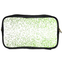 Green Square Background Color Mosaic Toiletries Bags by Celenk