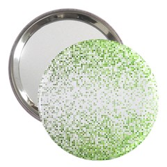 Green Square Background Color Mosaic 3  Handbag Mirrors by Celenk