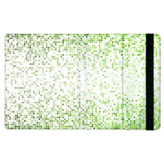 Green Square Background Color Mosaic Apple Ipad 3/4 Flip Case by Celenk