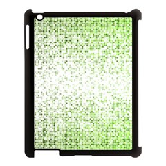 Green Square Background Color Mosaic Apple Ipad 3/4 Case (black) by Celenk