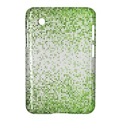 Green Square Background Color Mosaic Samsung Galaxy Tab 2 (7 ) P3100 Hardshell Case  by Celenk