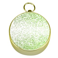 Green Square Background Color Mosaic Gold Compasses