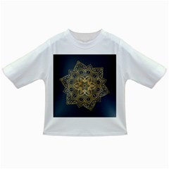 Gold Mandala Floral Ornament Ethnic Infant/toddler T Shirts by Celenk