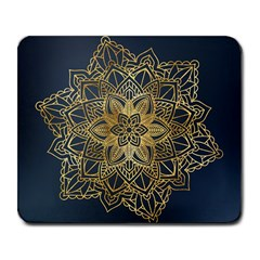 Gold Mandala Floral Ornament Ethnic Large Mousepads by Celenk