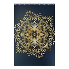 Gold Mandala Floral Ornament Ethnic Shower Curtain 48  X 72  (small)  by Celenk