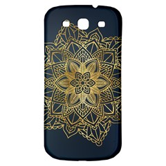 Gold Mandala Floral Ornament Ethnic Samsung Galaxy S3 S Iii Classic Hardshell Back Case by Celenk