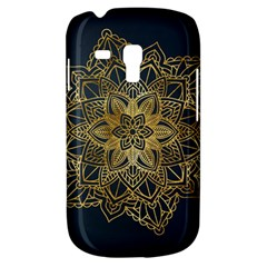 Gold Mandala Floral Ornament Ethnic Galaxy S3 Mini by Celenk