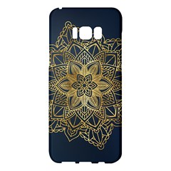 Gold Mandala Floral Ornament Ethnic Samsung Galaxy S8 Plus Hardshell Case  by Celenk