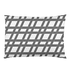 Grid Pattern Seamless Monochrome Pillow Case (two Sides)