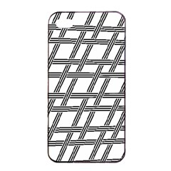 Grid Pattern Seamless Monochrome Apple Iphone 4/4s Seamless Case (black) by Celenk