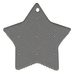 Diagonal Stripe Pattern Seamless Star Ornament (two Sides) by Celenk