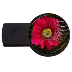 Fantasy Flower Fractal Blossom Usb Flash Drive Round (4 Gb) by Celenk
