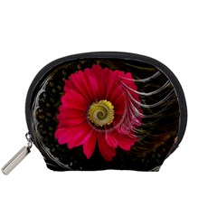 Fantasy Flower Fractal Blossom Accessory Pouches (small)  by Celenk