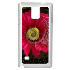 Fantasy Flower Fractal Blossom Samsung Galaxy Note 4 Case (white) by Celenk