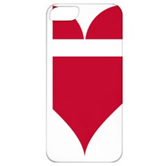 Heart Love Flag Denmark Red Cross Apple Iphone 5 Classic Hardshell Case