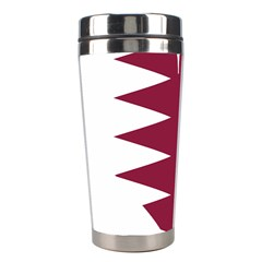 Heart Love Flag Qatar Stainless Steel Travel Tumblers by Celenk