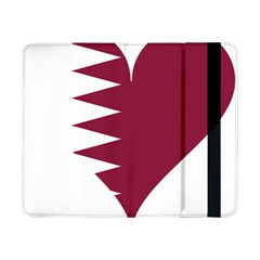 Heart Love Flag Qatar Samsung Galaxy Tab Pro 8 4  Flip Case by Celenk