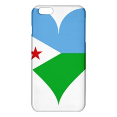 Heart Love Flag Djibouti Star Iphone 6 Plus/6s Plus Tpu Case by Celenk