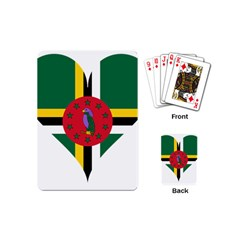 Heart Love Flag Antilles Island Playing Cards (mini)