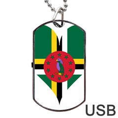 Heart Love Flag Antilles Island Dog Tag Usb Flash (two Sides)