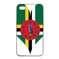 Heart Love Flag Antilles Island Apple Iphone 4/4s Seamless Case (black) by Celenk