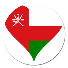 Heart Love Affection Oman Magnet 5  (round)