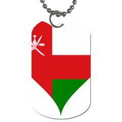 Heart Love Affection Oman Dog Tag (two Sides)
