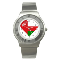Heart Love Affection Oman Stainless Steel Watch by Celenk