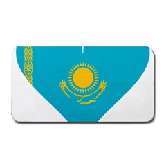 Heart Love Flag Sun Sky Blue Medium Bar Mats by Celenk