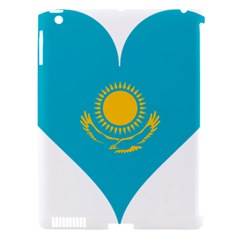Heart Love Flag Sun Sky Blue Apple Ipad 3/4 Hardshell Case (compatible With Smart Cover) by Celenk