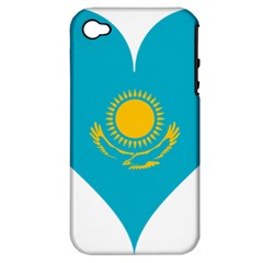 Heart Love Flag Sun Sky Blue Apple Iphone 4/4s Hardshell Case (pc+silicone) by Celenk